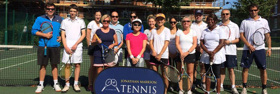 Adult tennis group at the Fulham Tennis Clinic